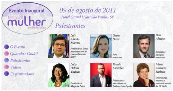 Convite do evento de lançamento