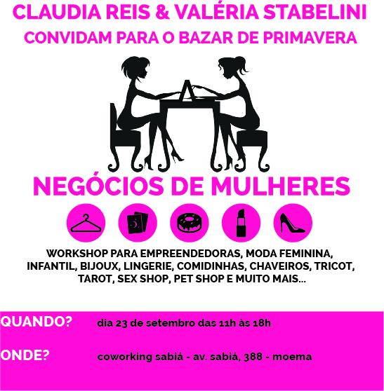 convite negocios de mulheres BAZAR DE PRIMAVERA